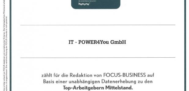 IT-POWER4You ist Top Arbeitgeber